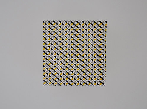 Applique Arrondi de losange noir jaune et beige