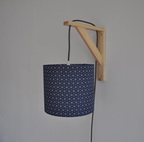 Lampe équerre fuji bleu navy