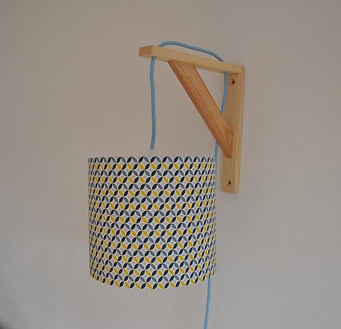Lampe équerre Arrondi de losange bleu et jaune