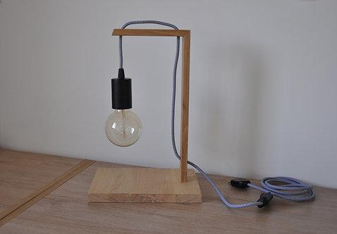 Lampe chêne avec ampoule filament