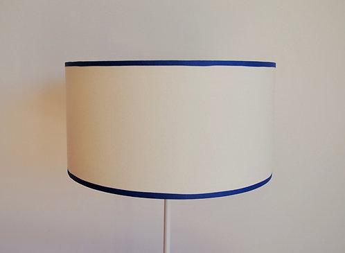 Abat-jour / Suspension blanc cassé bordure bleue (ou noire ou grise)
