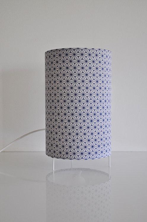Lampe tube Fudji lin bleu