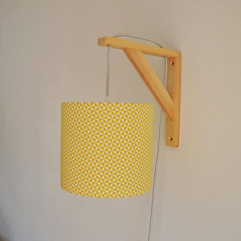 Lampe équerre Tournesol jaune et blanc
