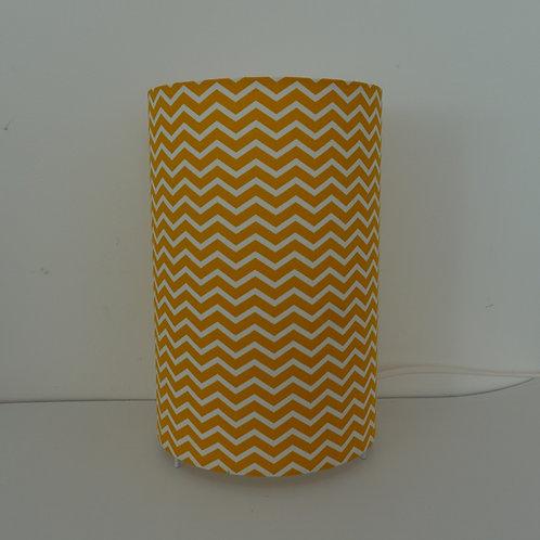 Lampe tube chevron jaune moutarde