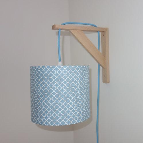 Lampe équerre Ornement bleu
