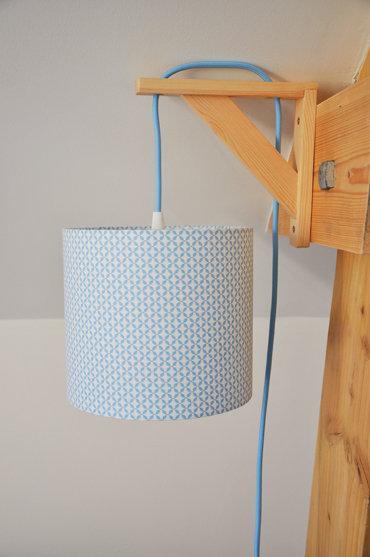 Lampe équerre Cottage bleu