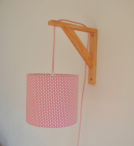 Lampe équerre Cottage rose