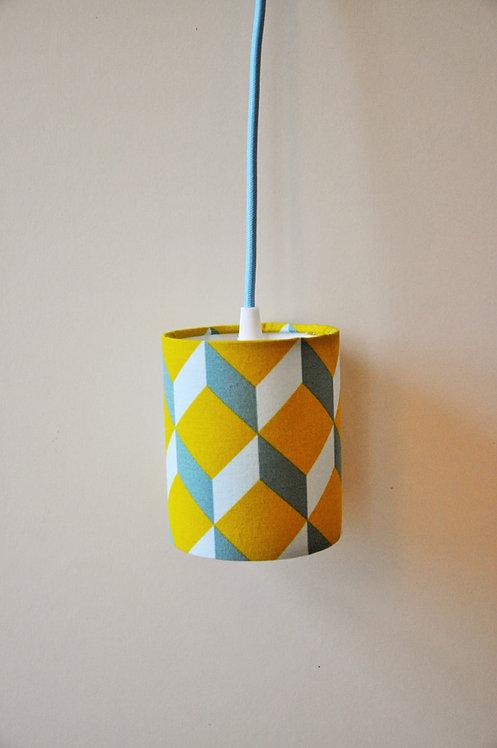Baladeuse cube moutarde bleu gris