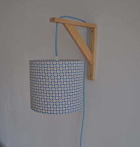 Lampe équerre Engrenage bleu et jaune
