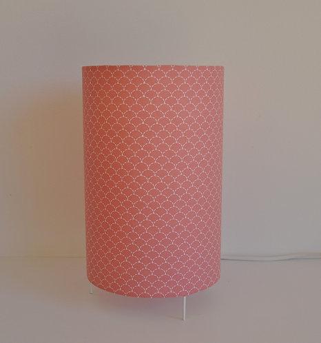Lampe tube écaille corail