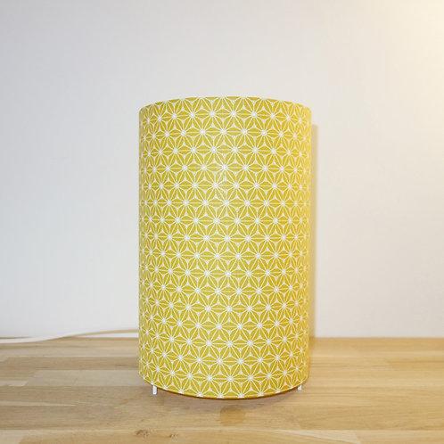Lampe tube fudji jaune