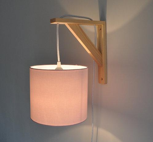 Lampe équerre Rose pâle