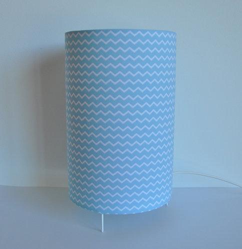 Lampe tube chevron bleu ciel