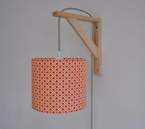 Lampe équerre Retro rouge