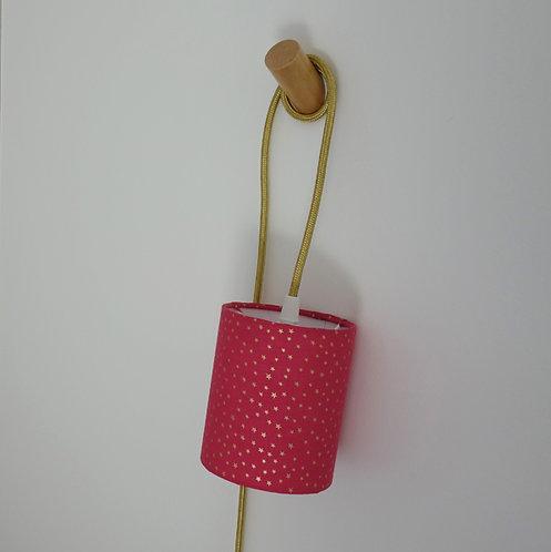 Baladeuse rose fushia étoiles dorées