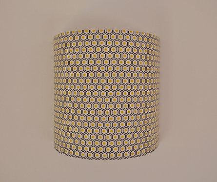 Applique Hexagonale noir jaune et beige