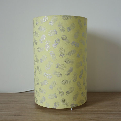 Lampe tube jaune ananas argentés