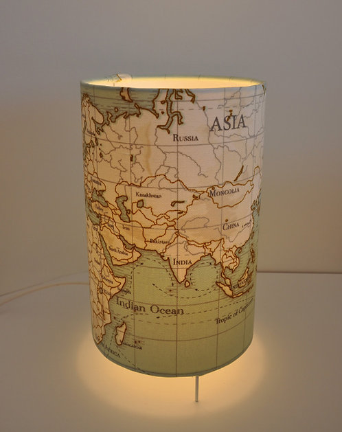 Lampe tube Monde