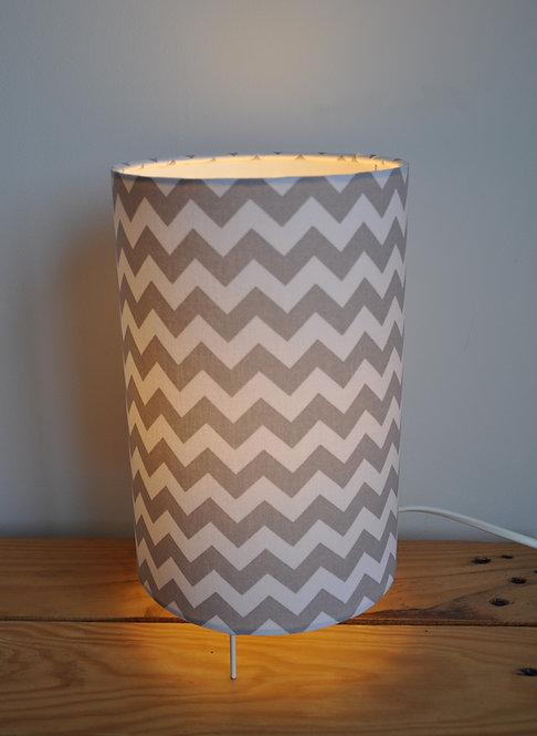 Lampe tube Chevron Gris