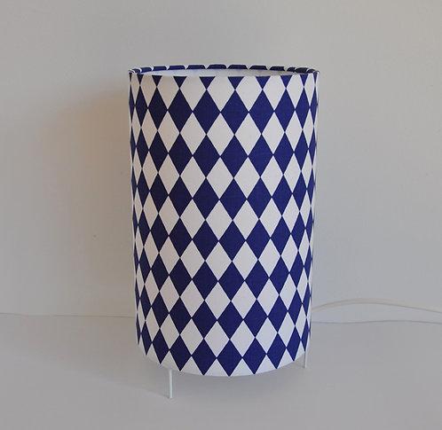Lampe tube losange bleu marine