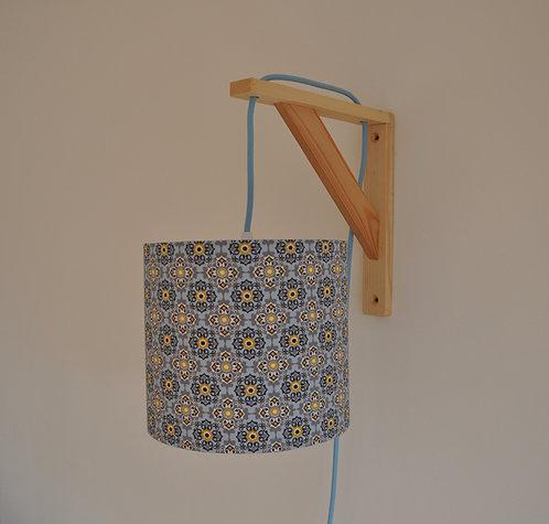Lampe équerre Mosaic bleu et jaune
