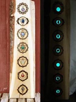 Crystal Chakra board (pic 1) 1100sek