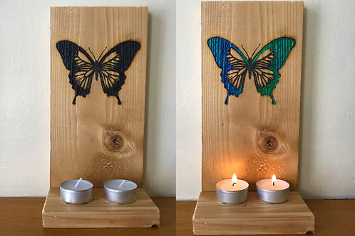 Chameleon Crystal Candle holders