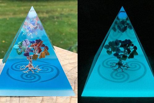 Auranite Tree of Life Pyramids