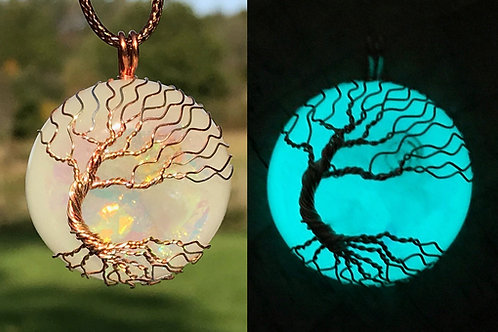 Auranite Tree of Life pendants with Afterglow