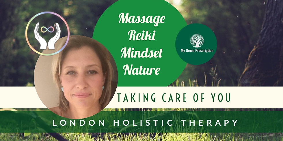 Head, Neck & Shoulder Massage & Reiki in the woods with Ruth & MGP