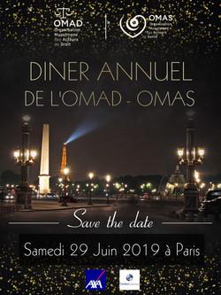 Affiche pour un dîner annuel