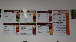 Panneau pour un menu de restaurant