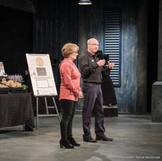 Hélène et Luc lors de l'émission