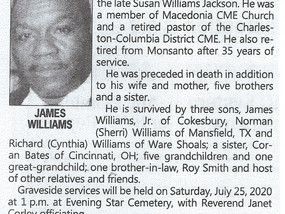 Rev James Williams