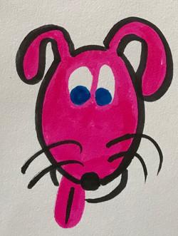 Pink Pooch 日本語 日本 書道 ペン art marker graffiti bubbles ink kawaii