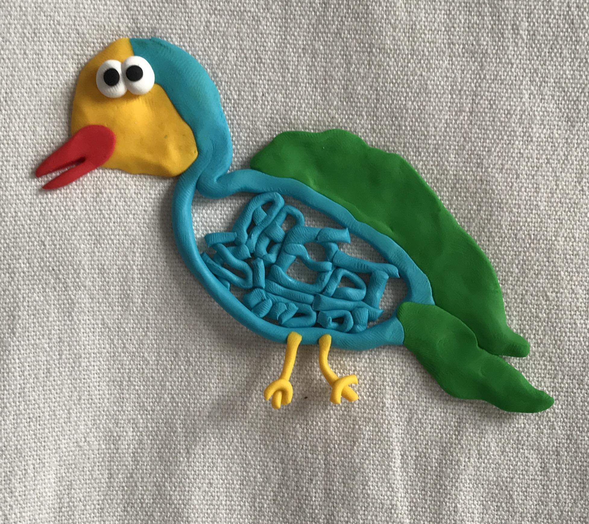 インコ 鸚哥 鳥 日本語 粘土 美術品 parakeet bird art calligraphy Japanese clay