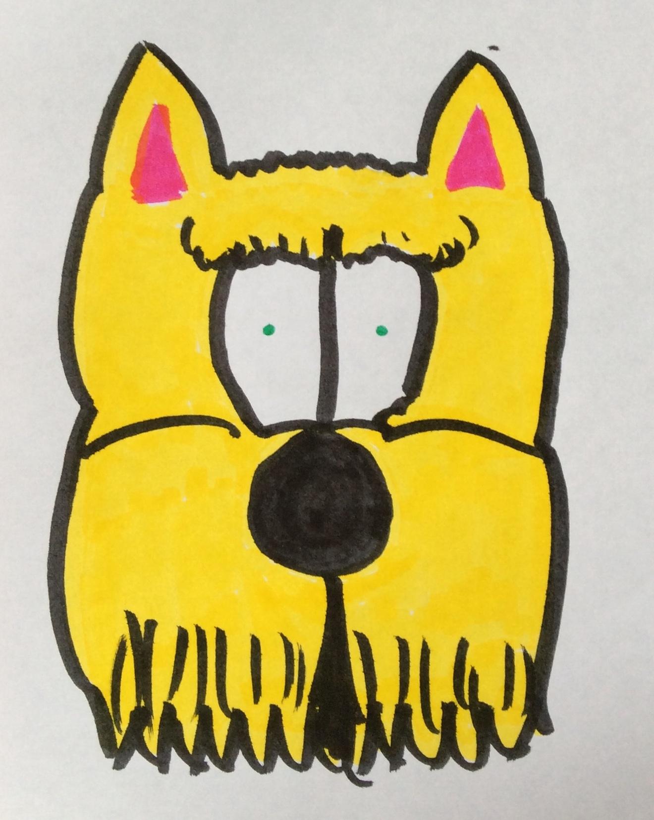 He's a right raging Scottie Terrier  drawing artwork art marker sketch cartoon comic kawaii cute