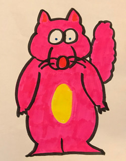 A Jolly Squirrel drawing artwork art marker sketch cartoon comic kawaii cute