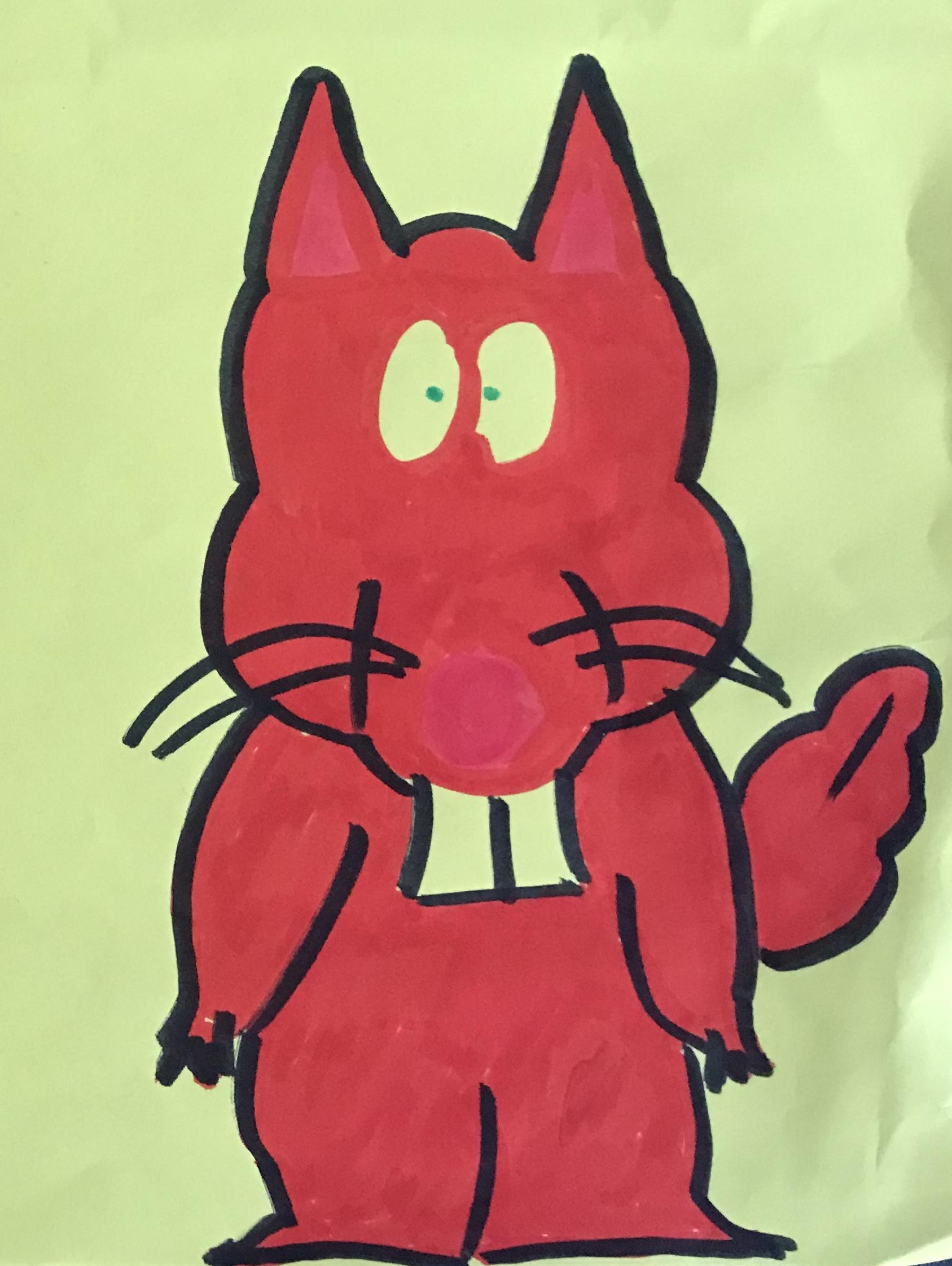 Where are my nuts squirrel drawing artwork art marker sketch cartoon comic kawaii cute