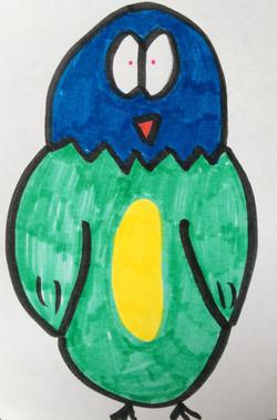 A jolly little owl  drawing artwork art marker sketch cartoon comic kawaii cute