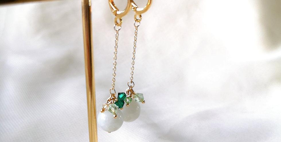 CRYSTAL EARRING: ☾ May : Dangle Cuffs - 17 ☾