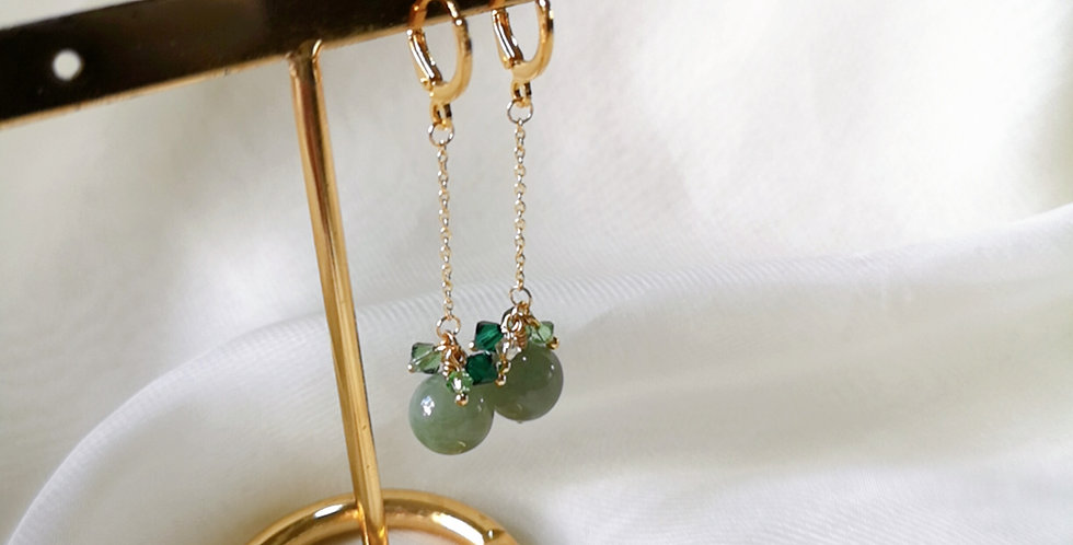 CRYSTAL EARRING: ☾ May : Dangle Cuffs - 20 ☾