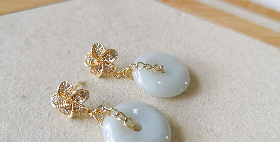 CRYSTAL EARRING: ☾ May : Jade - 7 ☾