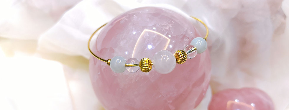 Bangle : Rose Quartz