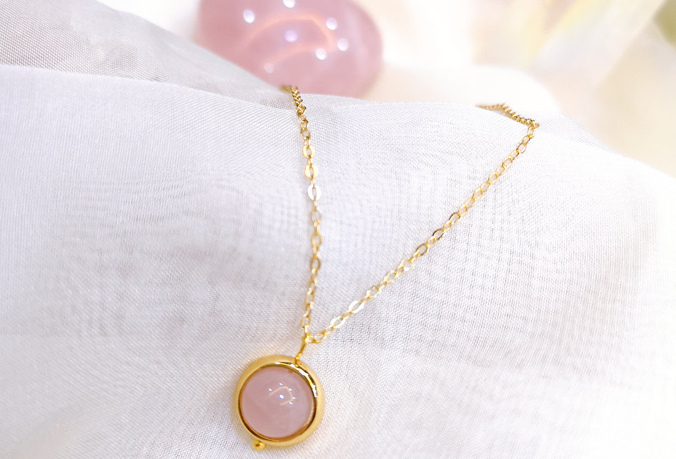 Only one - Rose Quartz Necklace