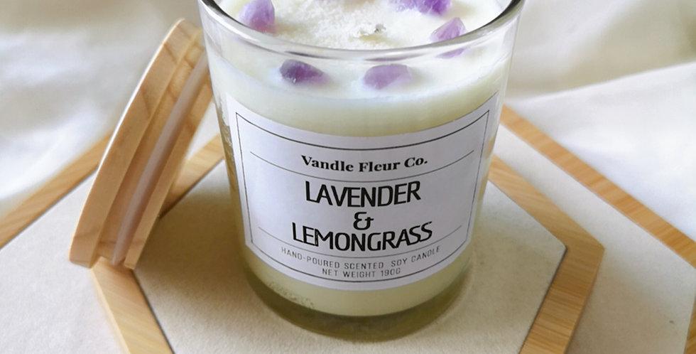 Amethyst Crystal : Lavender & Lemongrass