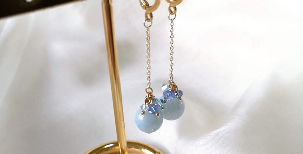 CRYSTAL EARRING: ☾ May : Dangle Cuffs - 15 ☾