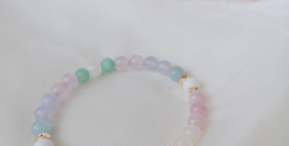 CRYSTAL BRACELETS: 6mm PASTEL #2 ✡