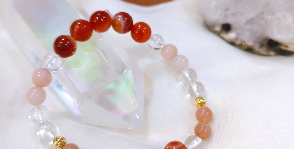 CRYSTAL BRACELETS: RED LACE AGATE #1 ✡