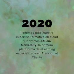 2020 - Lanzamiento del e-commerce de eAlicia University